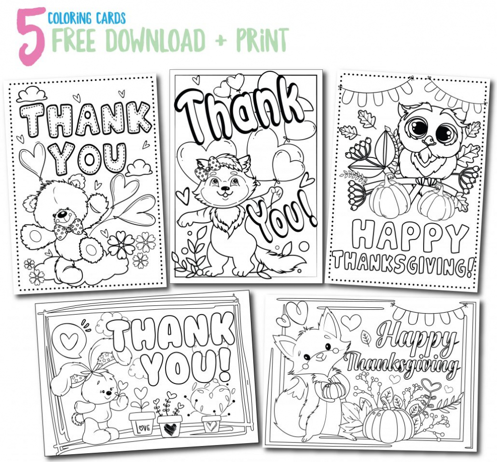 Printable Thank You Cards - Thank You, Me | Printable Thank You Cards For Kids To Color