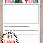 Printable Thank You Note   Three Little Ferns   Family Lifestyle Blog | Military Thank You Cards Printable