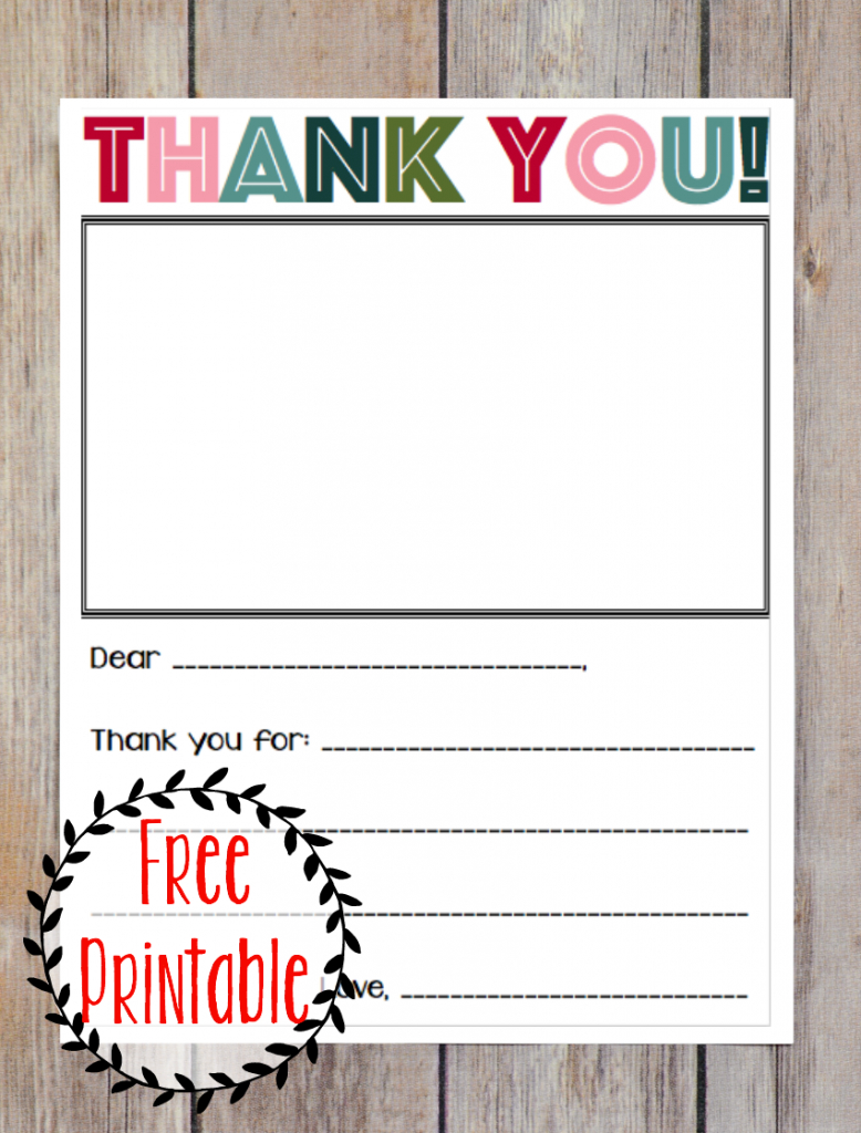 Printable Thank You Note - Three Little Ferns - Family Lifestyle Blog | Military Thank You Cards Printable