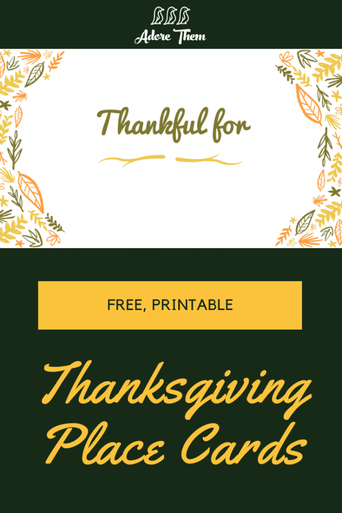 Printable Thanksgiving Place Cards | Adorethem - Collection Of | Printable Thanksgiving Place Cards For Kids