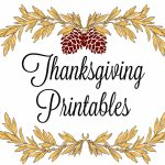 Printable Thanksgiving Place Cards & Menus | Printable Thanksgiving Place Cards