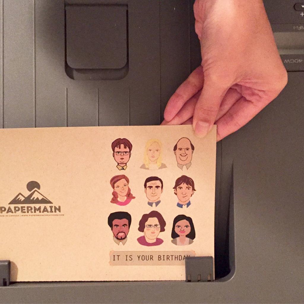 Printable The Office Tv Show Birthday Card, Dunder Mifflin Card   The Office Printable Birthday Card