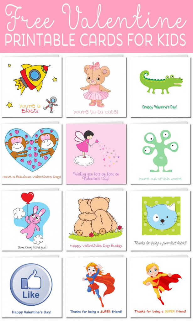 Printable Valentine Cards For Kids | Free Printable Valentines Day Cards For Kids