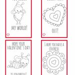 Printable Valentine Cards For Kids  Perfect For Kids To Make For | Printable Valentine Cards To Color