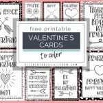 Printable Valentine Cards To Color   The Kitchen Table Classroom | Printable Valentines Day Cards To Color