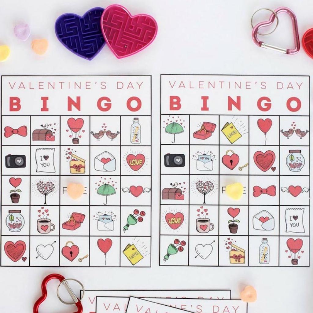Printable Valentine's Bingo | Printable Valentine Bingo Cards With Numbers