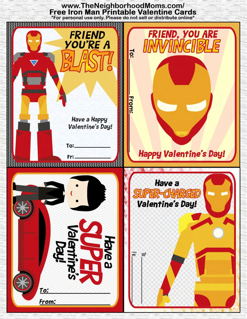 Printable Valentine's Cards | Valentine's Day Crafts And Recipes | Free Printable Superman Valentine Cards