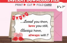 Printable Valentine Cards For Husband