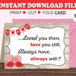 Printable Valentine's Day Card/ Romantic Card/ Husband/ | Etsy | Printable Valentines Day Cards For Husband