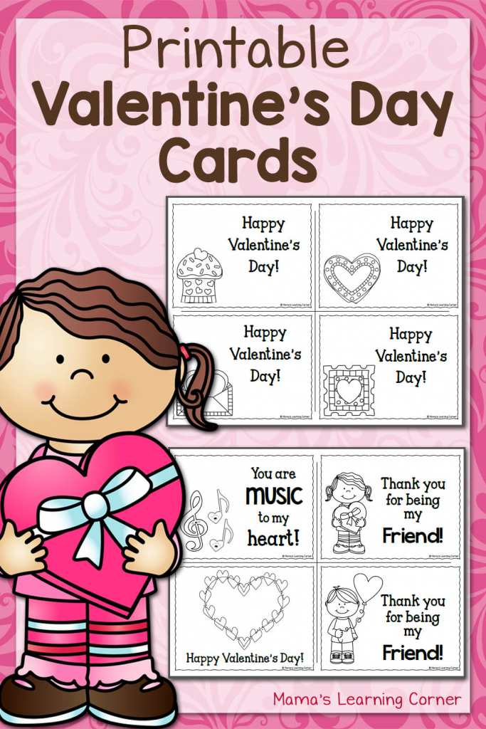 Printable Valentine's Day Cards - Mamas Learning Corner | Printable Picture Cards For Kindergarten