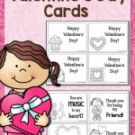 Printable Valentine's Day Cards   Mamas Learning Corner | Printable Valentines Day Cards To Color