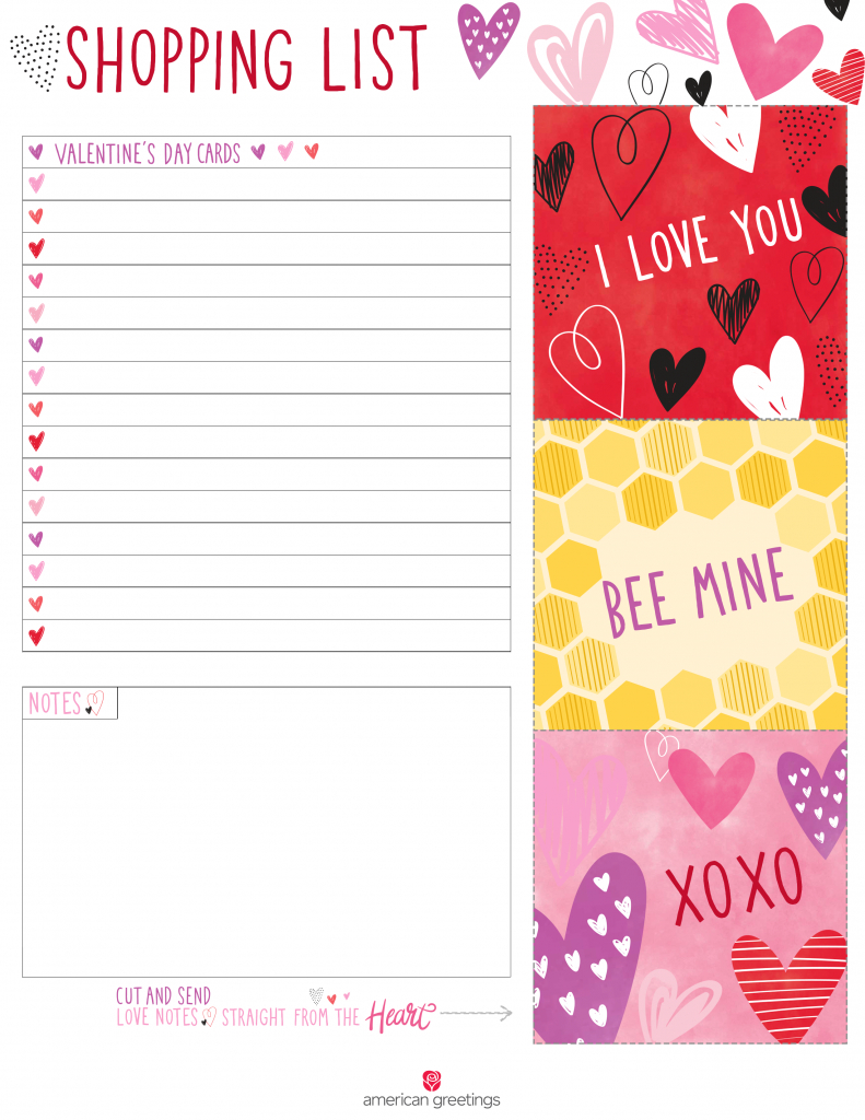 Printable Valentine's Day Shopping List | Printables | Pinterest | American Greetings Printable Cards