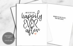 Printable Wedding Cards Bridal Shower Digital Download Calligraphy | Printable Bridal Shower Card