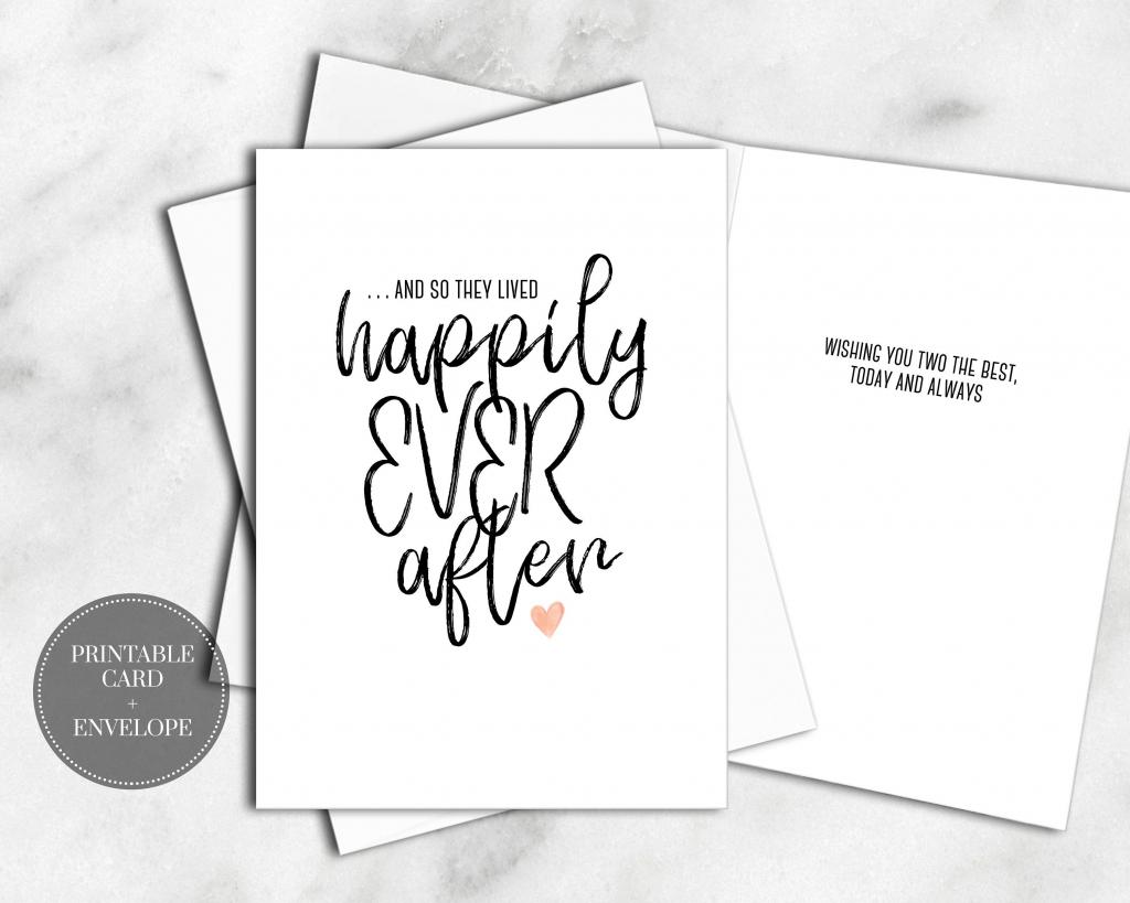 Printable Wedding Cards Bridal Shower Digital Download Calligraphy | Printable Bridal Shower Card