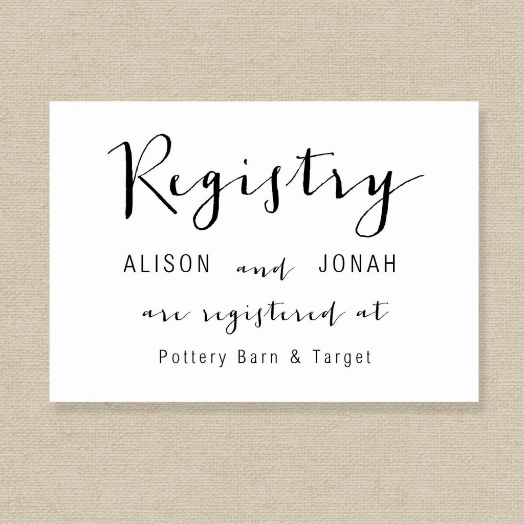 Printable Wedding Registry Checklist | Wedding Registry Cards Baby | Printable Gift Registry Cards