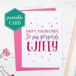 Printable Wife Valentines Card Gorgeous Wifey Valentines | Etsy | Valentines Cards For Her Printable