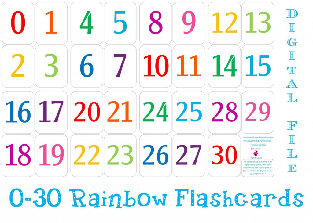 Printable+Number+Cards+1+30 | Education | Number Flashcards | Number Flash Cards Printable 1 20