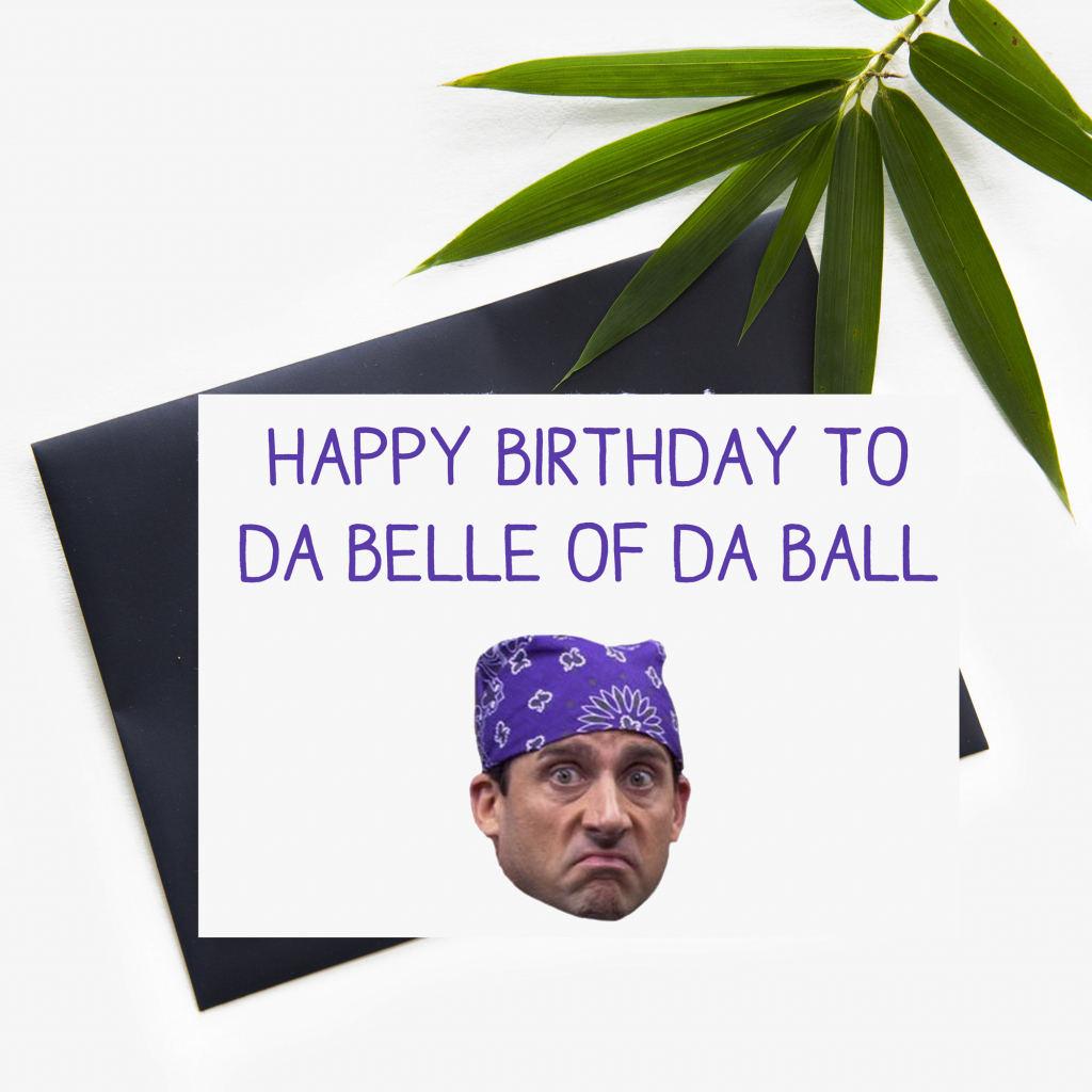 Prison Mike The Office Funny Printed Printable Birthday Card | Etsy | The Office Printable Birthday Card