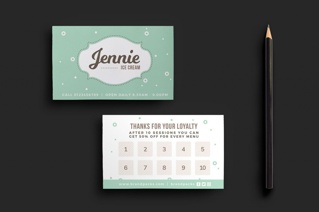 Quickly & Easily Create Professional Loyalty Card Designs With This | Free Printable Loyalty Card Template