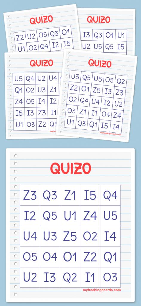Quizo Bingo | Quizo | 100Th Day, 100S Day, The 100 | Free Printable Bingo Cards 1 100