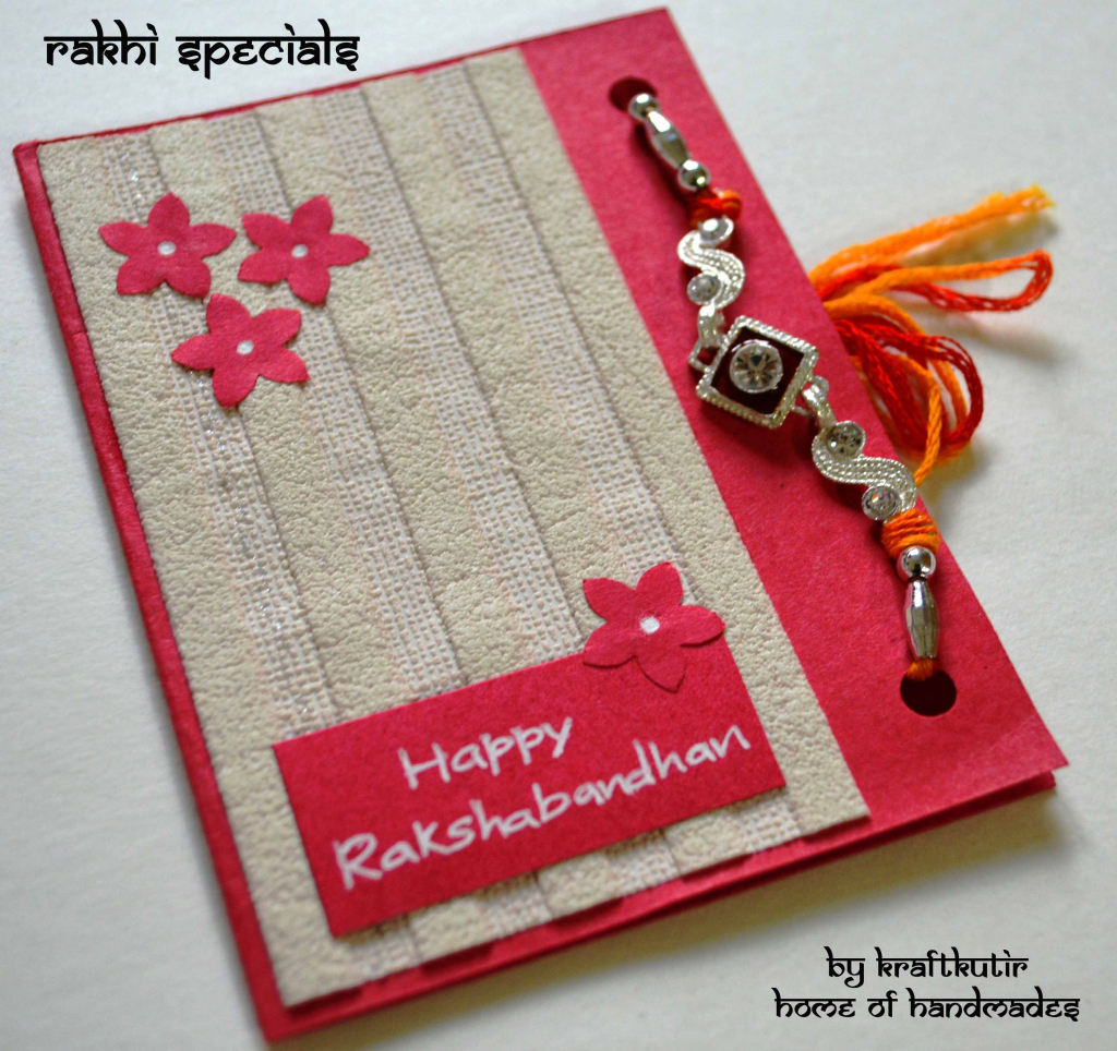 Rakshabandhan Cards With Rakhi :) | Kraftkutir's Handmade Products | Free Online Printable Rakhi Cards