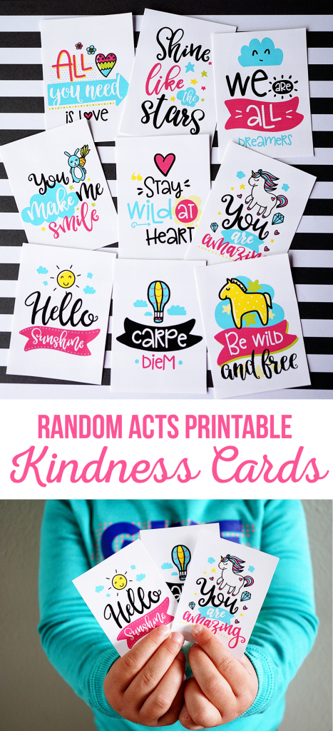 Random Acts Printable Kindness Cards - The Crafting Chicks | Free Printable Kindness Cards