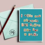 Ransom Note I Miss You Card Long Distance Love Card I Miss   Etsy   I Miss You Cards For Him Printable