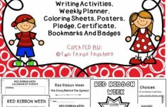 Red Ribbon Week | Two Texas Teachers | Red Ribbon Week, Red Ribbon | Free Printable Drug Free Pledge Cards