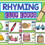 Rhyming Clip Cards | Tpt Free Lessons | Rhyming Activities, Rhyming | Rhyming Picture Cards Printable