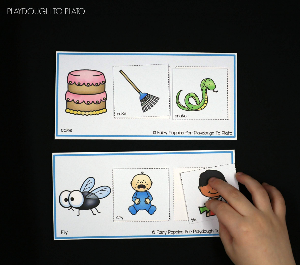 Rhyming Picture Mats - Playdough To Plato | Rhyming Picture Cards Printable