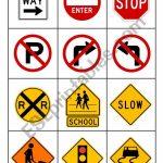 Road Signs   Esl Worksheetmytijana | Printable Road Signs Flash Cards