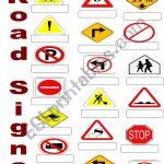 Road Signs   Esl Worksheetsuda | Printable Road Signs Flash Cards