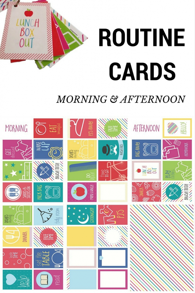 Routine Cards – Morning And Afternoon – Be A Fun Mum | Free Printable Daily Routine Picture Cards
