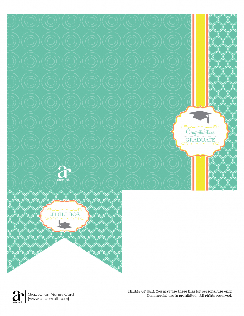 Ruff Draft: Free Printable Graduation Money Card - Anders Ruff | Free Printable Graduation Cards