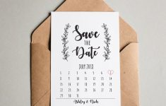 Printable Save The Date Wedding Cards