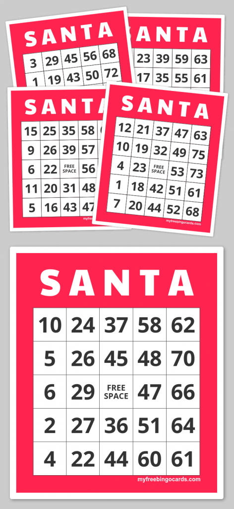 S A N T A Bingo | Teacher Fun Galore | Pinterest | Bingo Cards | Printable Bingo Cards 1 75