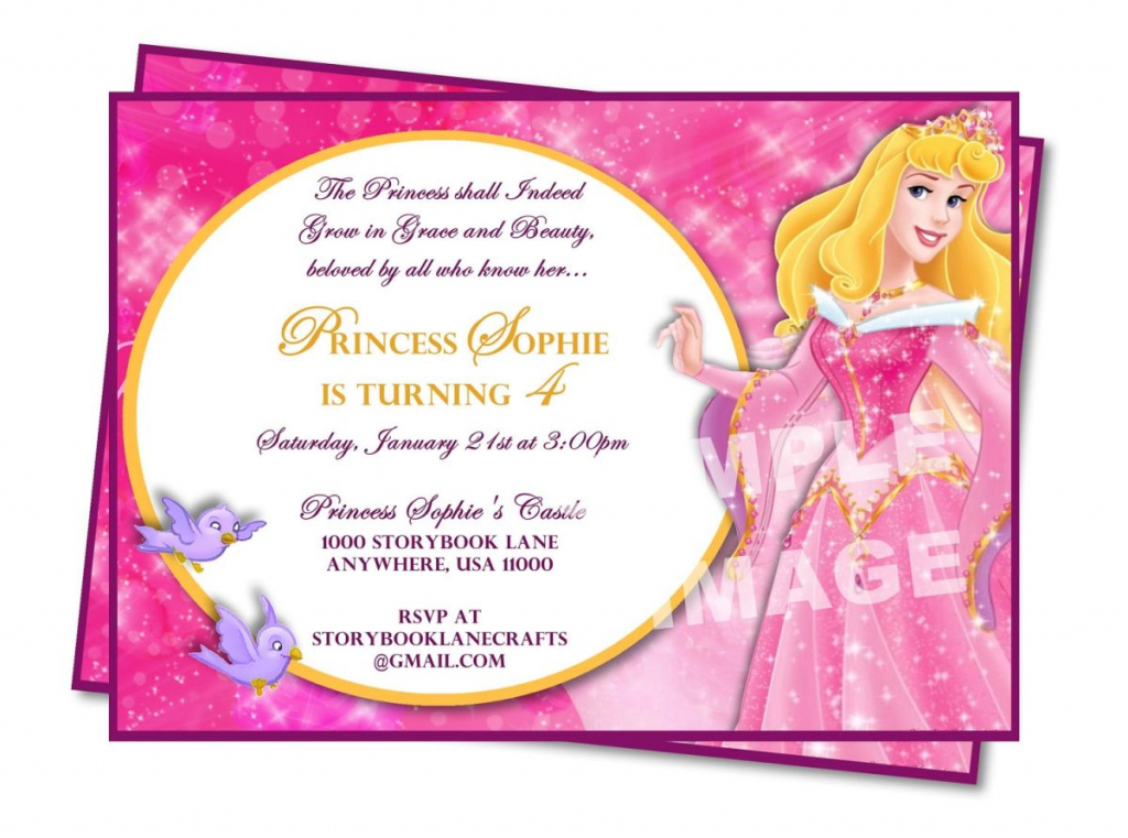 Sample Princess Birthday Invitation Wording | Sheetal | Princess | 7Th Birthday Invitation Card Printable