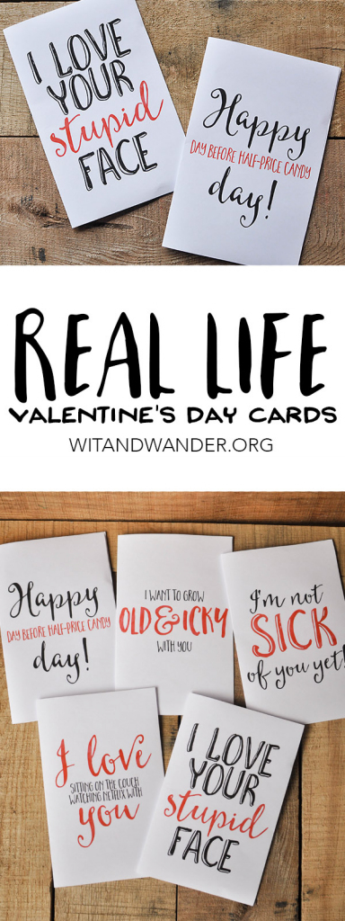 Sarcastic Valentine's Day Cards - Free Printables - Our Handcrafted Life | Free Printable Valentine Cards For Husband