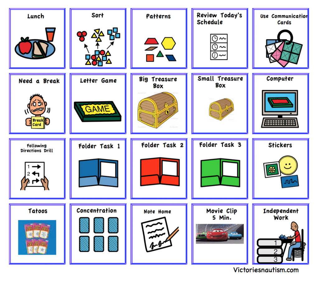 Schedule, Activity And Task Cards | Picture Cards For Autism Printable
