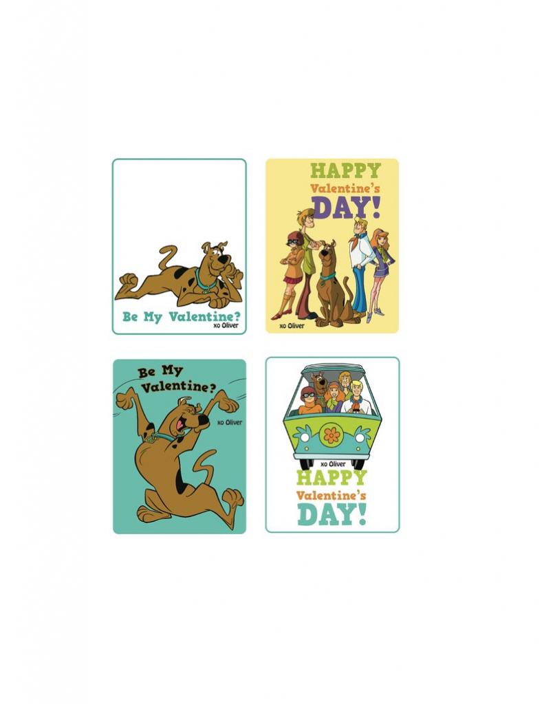 Scooby Doo Custom Valentine's Day Card X4 Printable File | Etsy | Printable Scooby Doo Valentine Cards