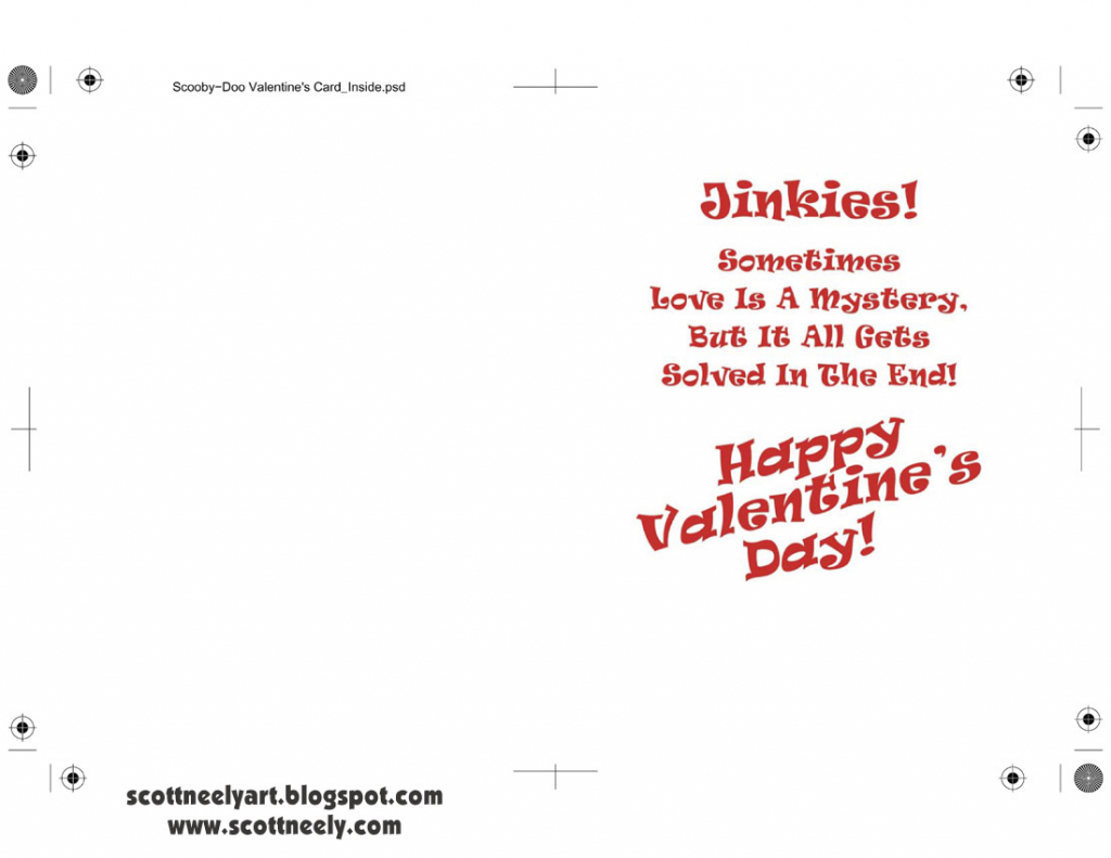 Scott Neely's Scribbles And Sketches!: Print Out Your Own Scooby-Doo | Printable Scooby Doo Valentine Cards