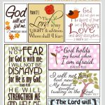 Scripture For When You Are Fearful | Bannie's Bible Journaling | Free Printable Scripture Cards