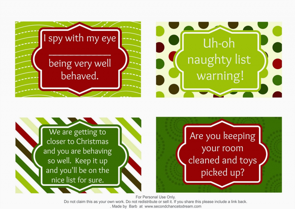 Second Chance To Dream - Free Printable Elf On The Shelf Activity Ideas | Elf On A Shelf Printable Cards