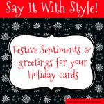 Sentiments And Greetings For Christmas Cards | Free Printable Greeting Card Sentiments
