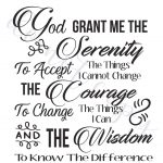 Serenity Prayer Digital Vector Files, Instant Download For Print And | Printable Serenity Prayer Cards