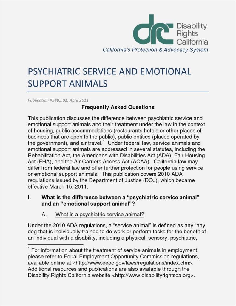 Service Dog Doctors Note Example - Canas.bergdorfbib.co   Printable Ada Service Dog Card