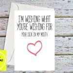 Sexy Anniversary Miss You Cards Rude Birthday Card Dirty   Etsy   I Miss You Cards For Him Printable