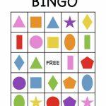 Shape Bingo Card   Free Printable   I'm Going To Use This To Teach | Free Printable Spanish Bingo Cards
