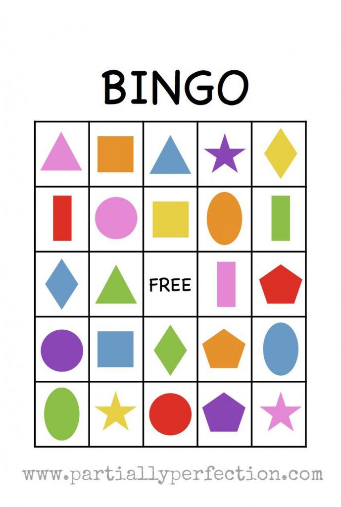 Shape Bingo Card - Free Printable - I'm Going To Use This To Teach | Free Printable Spanish Bingo Cards