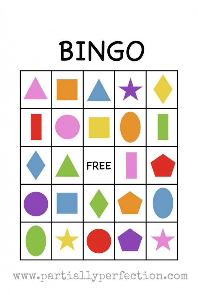 Shape Bingo Card - Free Printable - I'm Going To Use This To Teach | Shapes Bingo Cards Printable